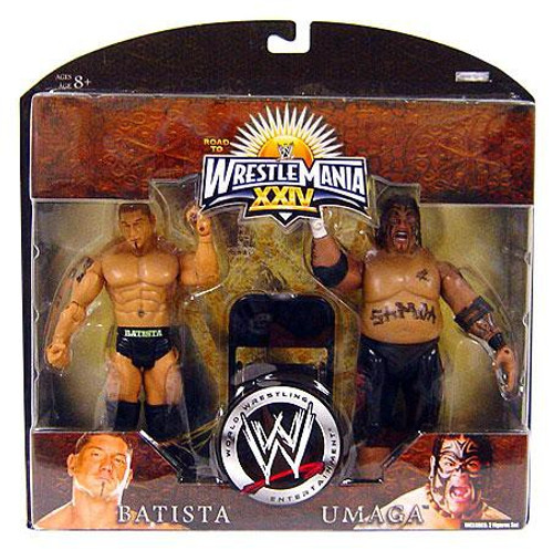 WWE Wrestling Road to WrestleMania 24 Series 3 Batista & Umaga Exclusive Action Figure 2-Pack