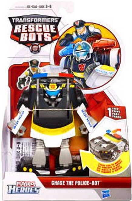 Transformers Playskool Heroes Rescue Bots Chase The Police-Bot Action Figure