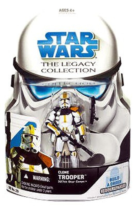 Star Wars The Clone Wars 2008 Legacy Collection Droid Factory Clone Trooper Action Figure BD29 [327th Star Corps]