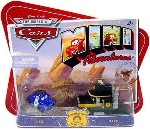 Disney / Pixar Cars The World of Cars Mini Adventures Luigi & Mack Plastic Car 2-Pack