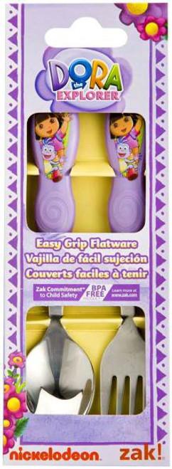 Dora the Explorer 2-Piece Easy Grip Flatware Set