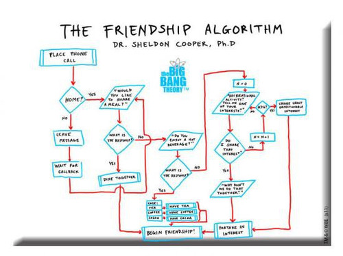 The Big Bang Theory Friendship Algorithm Magnet