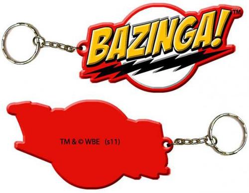 The Big Bang Theory Bazinga Rubber Keychain