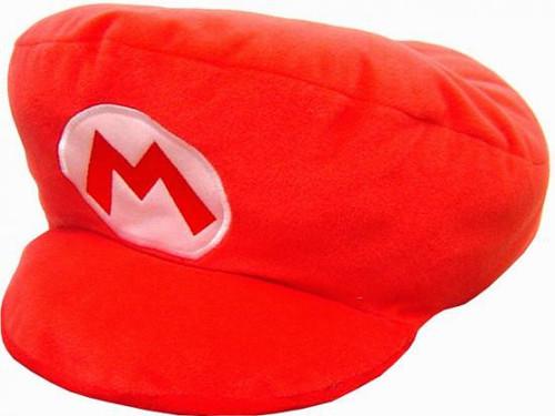 Super Mario Mario Hat Pillow 13-Inch Plush