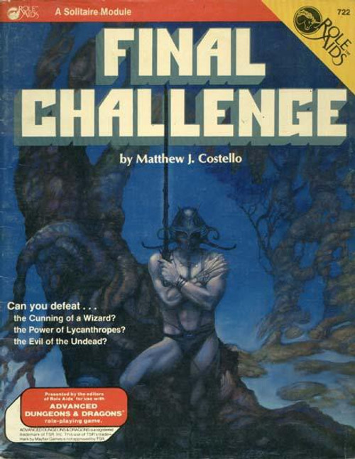 Dungeons & Dragons Role Aids Final Challenge Roleplaying Book [Used: Condition Good]