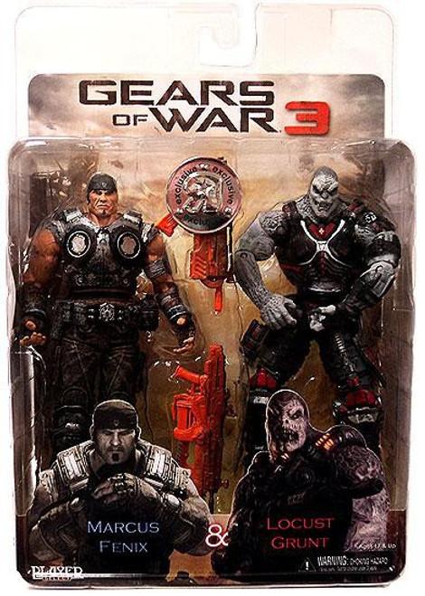 NECA Gears of War 3 Marcus Fenix & Locust Grunt Exclusive Action Figure 2-Pack