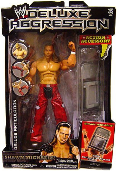 WWE Wrestling Deluxe Aggression Series 20 Shawn Michaels Action Figure