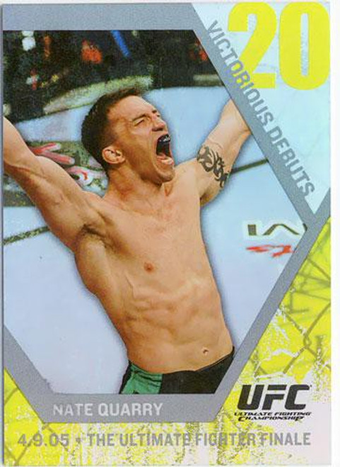 Topps UFC 2009 Round 1 Victorious Debuts Nate Quarry VD16 [The Ultimate Fighter Finale]