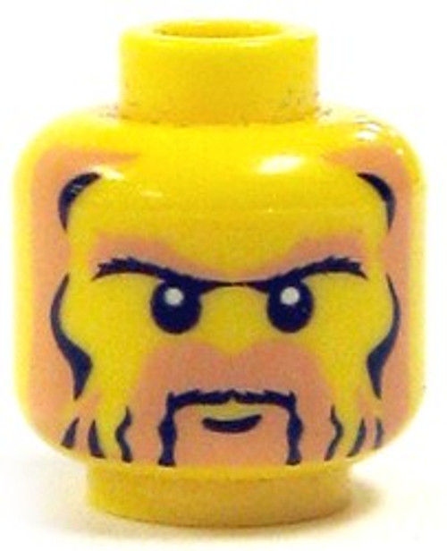 Full Brown Beard Minifigure Head [Yellow Loose]