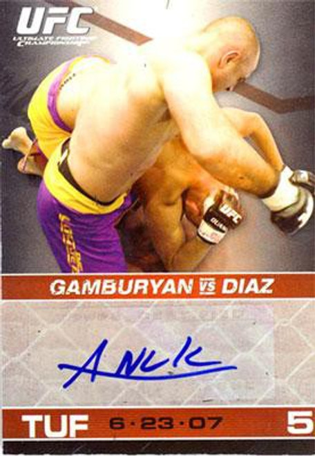 Topps UFC 2009 Round 1 Manny Gamburyan Autograph Card [Blue Ink]