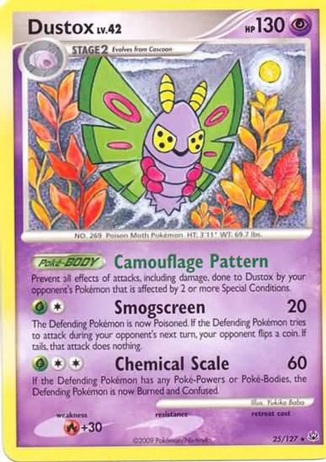 Pokemon Platinum Rare Dustox #25
