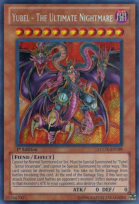 YuGiOh GX Trading Card Game Legendary Collection 2 Secret Rare Yubel - The Ultimate Nightmare LCGX-EN199