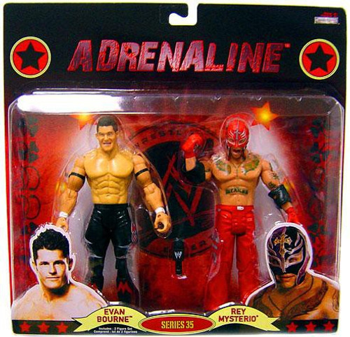WWE Wrestling Adrenaline Series 35 Evan Bourne & Rey Mysterio Action Figure 2-Pack