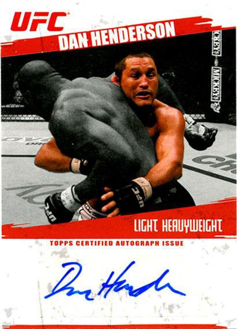 Topps UFC Cards Dan Henderson Autograph Card FA-DH