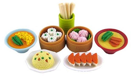 Iwako Chinese Food Dim Sum Eraser Set