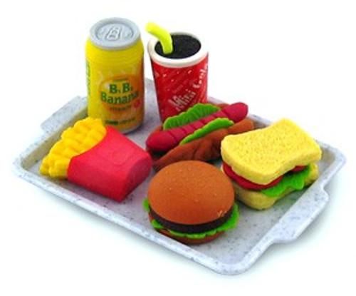 Iwako Fast Food Eraser Set