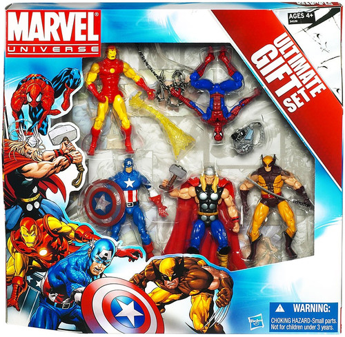 Marvel Universe Avengers Ultimate Gift Set Action Figure 5-Pack [Spider-Man, Wolverine, Iron Man, Thor & Captain America]