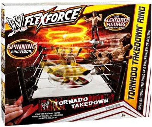 WWE Wrestling FlexForce Tornado Takedown Ring Action Figure Playset