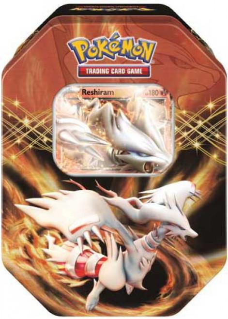 Pokemon Trading Card Game Black & White EX Reshiram Tin Set [4 Booster Packs & Promo Card]