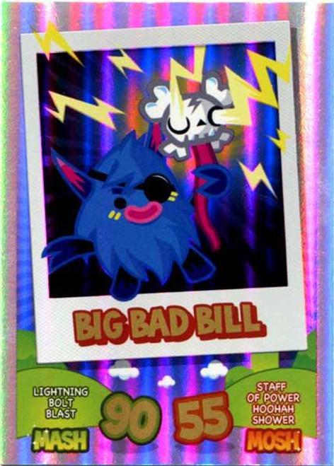 Moshi Monsters Topps Mash Up! Rainbow Foil Card Big Bad Bill