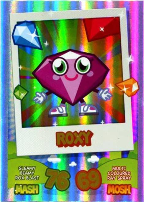 Moshi Monsters Topps Mash Up! Rainbow Foil Card Roxy