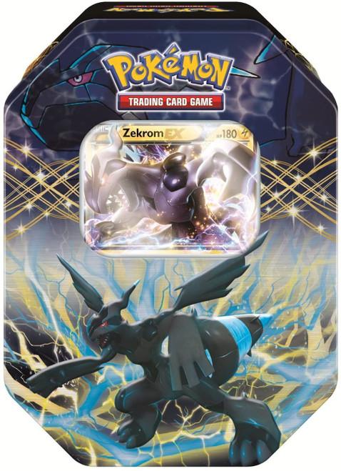 Pokemon Trading Card Game Black & White EX Zekrom Tin Set [4 Booster Packs & Promo Card]
