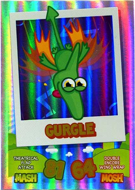 Moshi Monsters Topps Mash Up! Rainbow Foil Card Gurgle