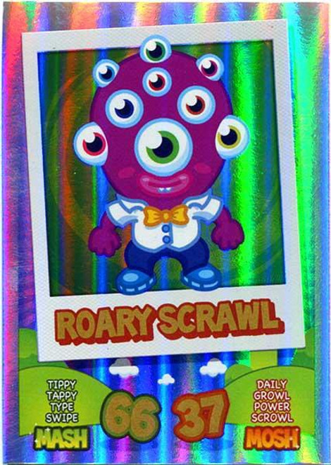 Moshi Monsters Topps Mash Up! Rainbow Foil Card Roary Scrawl