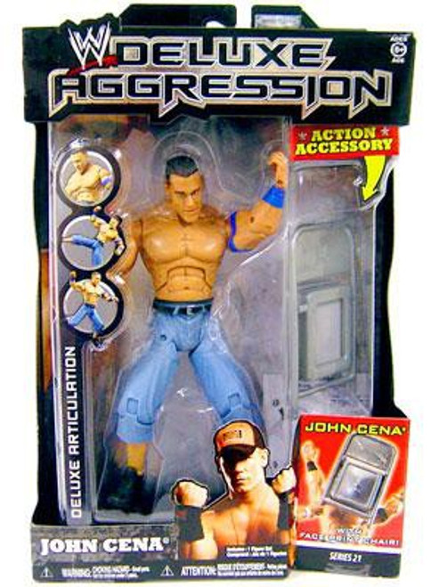 WWE Wrestling Deluxe Aggression Series 21 John Cena Action Figure