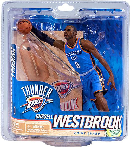 McFarlane Toys NBA Oklahoma City Thunder Sports Picks Series 21 Russell Westbrook Action Figure [Blue Jersey]