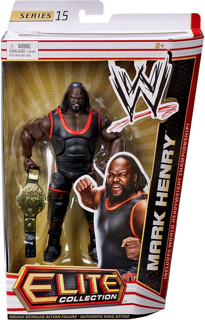 WWE Wrestling Elite Collection Series 15 Mark Henry Action Figure [World Heavyweight Championship]