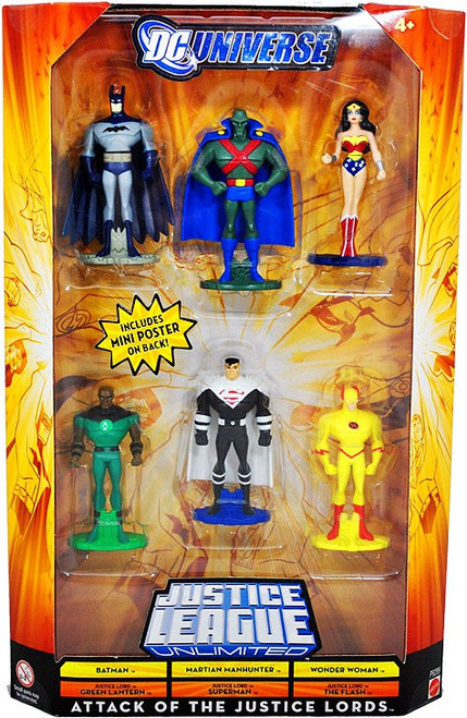 DC Universe Justice League Unlimited Attack Of The Justice Lords Exclusive Mini Figure Set