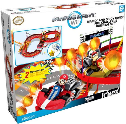 K'NEX Super Mario Mario Kart Wii Mario & Diddy Kong Fire Challenge Set #38352