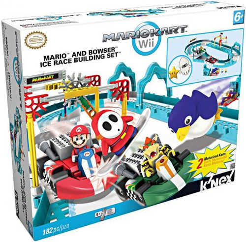 K'NEX Super Mario Mario Kart Wii Mario & Bowser Ice Race Set #38189