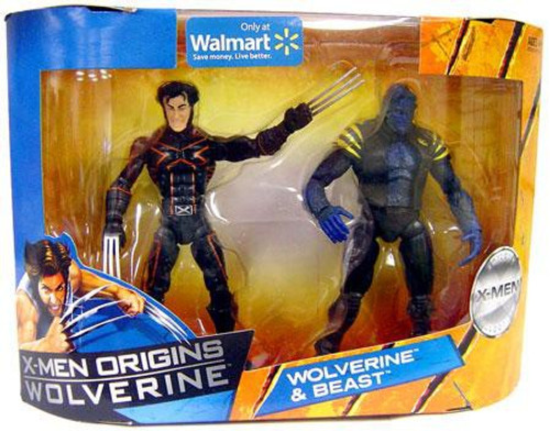 X-Men Origins Wolverine Wolverine & Beast Exclusive Action Figure 2-Pack