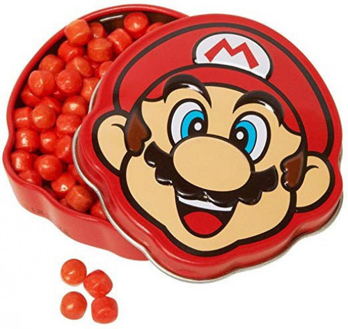 Nintendo New Super Mario Bros. Mario Brick Breakin Candies .6 Ounce Candy Tin