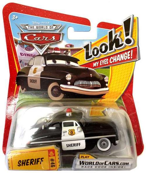 Disney / Pixar Cars The World of Cars Lenticular Eyes Series 1 Sheriff Diecast Car