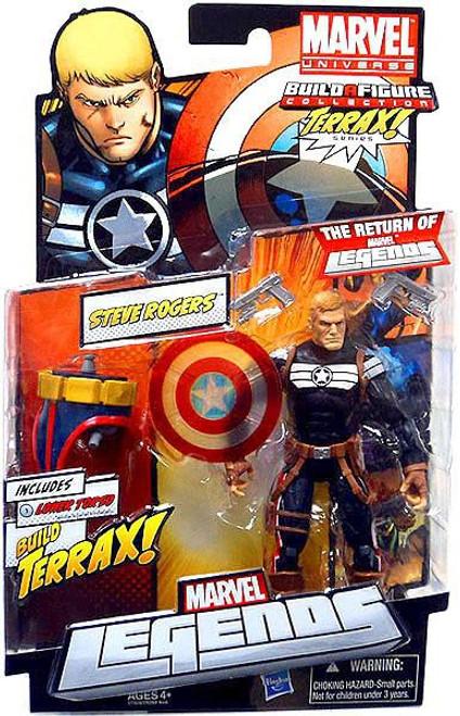 Marvel Legends 2012 Terrax Series Steve Rogers Action Figure [Clear Shield Variant]