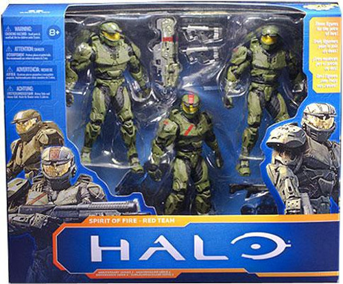 McFarlane Toys Halo Reach 10th Anniversary Series 2 Spirit of Fire Red Team Action Figure 3-Pack