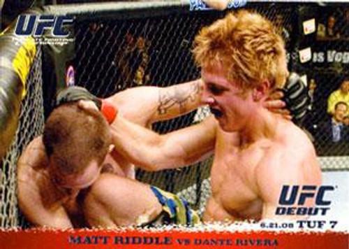 Topps UFC 2009 Round 1 Matt Riddle #85