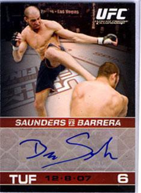 Topps UFC 2009 Round 1 Ben Saunders Autograph Card A-BS