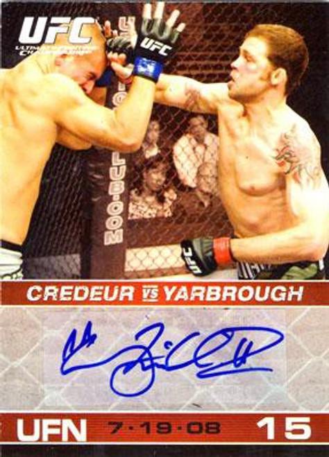 Topps UFC 2009 Round 1 Tim Credeur Autograph Card A-TC