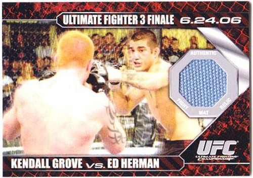 Topps UFC 2009 Round 1 Fight Mat Relic Kendall Grove Vs. Ed Herman DM-GH