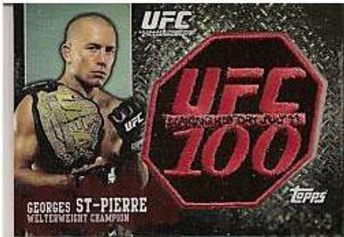 Topps UFC 100 Patch Cards Georges St Pierre Exclusive