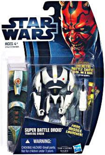 Star Wars The Clone Wars 2012 Super Battle Droid Action Figure CW16 [Training Droid]