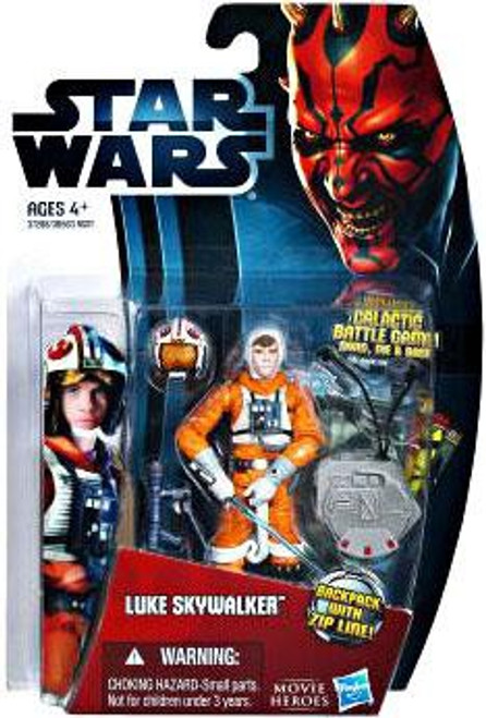 Star Wars The Empire Strikes Back 2012 Movie Heroes Luke Skywalker Action Figure #21 [X-Wing Pilot]