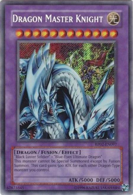 YuGiOh Retro Pack 2 Secret Rare Dragon Master Knight RP02-EN097