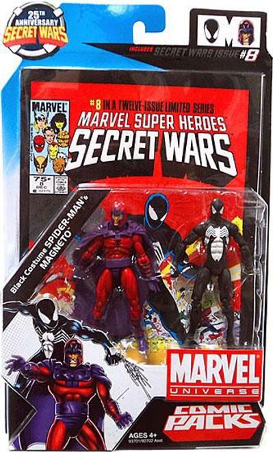 Marvel Universe Magneto & Black Costume Spider-Man Action Figure 2-Pack #8]