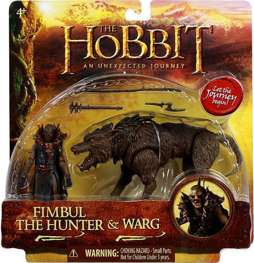 The Hobbit An Unexpected Journey Fimbul the Hunter & Warg Action Figure 2-Pack