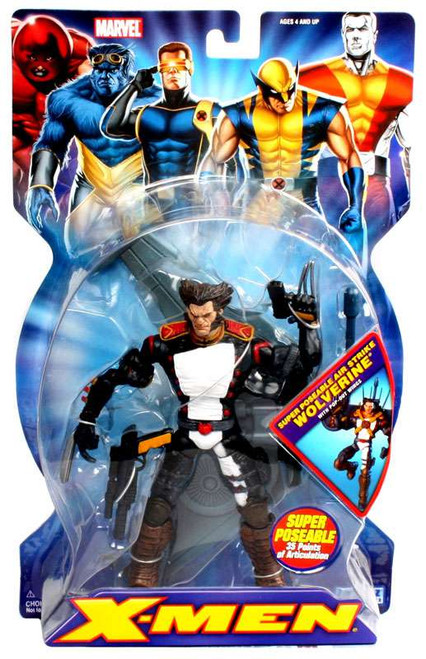 Marvel X-Men Super-Poseable Air Strike Wolverine Action Figure
